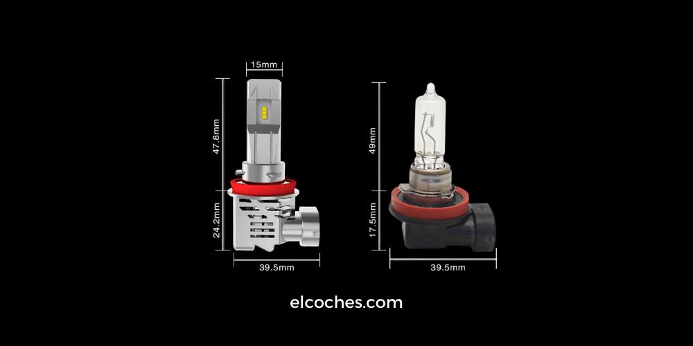 LED frente a bombilla halógena